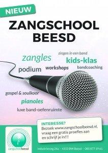 Poster Zangschool Beesd A3